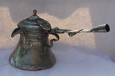 372 grams Very Antique ISLAMIC Ottoman COFFEE Mocca POT DALLAH Middle East
