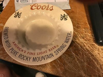 Vintage Coors Ashtray AMERICAS FINE LIGHT BEER Brewery Advertising Collectible