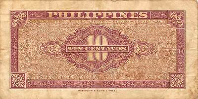 Philippines  10  Centavos 1949  Series R/O Circulated Banknote MX1116SF