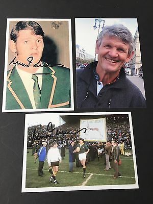 MORNE DU PLESSIS rugby player Springboks In-person 2 signed photos 4 x 6
