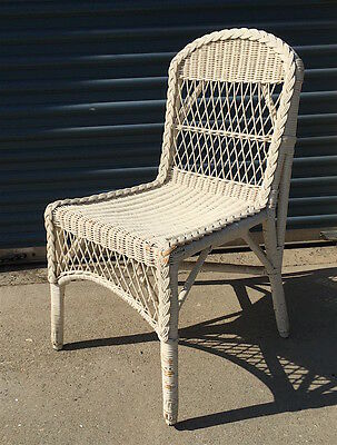 Antique Wicker Dressing Chair