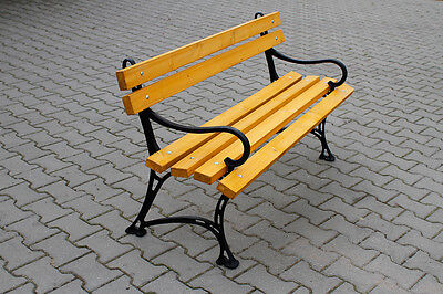 Cast Iron and Wood Garden Bench - NEW