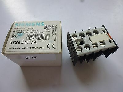3TX4 431-2A Siemens bloc contacts auxiliaires auxiliary contact 3NO+1NC lot : 2x