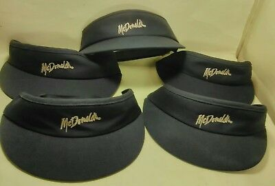 5 For Price Of 1 Mcdonald's  *authentic*  ~Employee Visors~  *vintage*