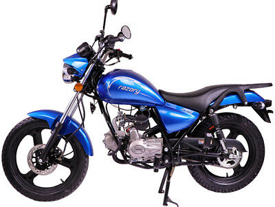 razory r109 50ccm schaltmoped motorrad softchopper blau. Black Bedroom Furniture Sets. Home Design Ideas