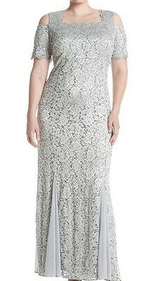 Women's Formal Plus Dresses Sz 18W {Fits Size 20} in Silver Mother of Bride NWT