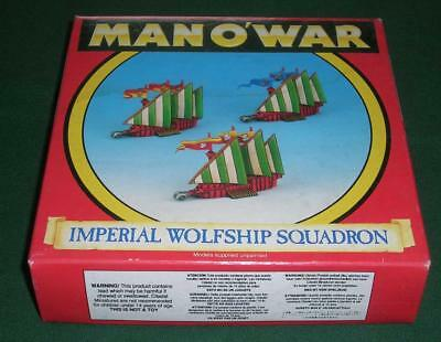 Rare OOP Citadel GW Man O' War Boxed Empire Wolfship Squadron of 3 models