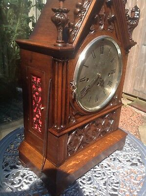 magnificent triple fusee English musical mantel clock
