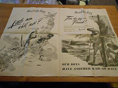 Chicago Daily Tribune Newspaper ( 2 Pages ) May 8 1945 World War II 2 Article AD