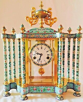 Vintage Chinese CLOISONNÉ Mantel/Shelf Clock.