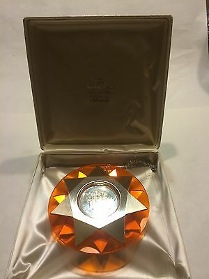 """Franklin Mint 1973 """"O COME ALL YE FAITHFUL"""" Sterling Silver Christmas Ornament"""