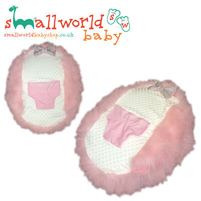 Personalised Girls Pink Fur Baby Bean Bag (NEXT DAY DISPATCH)