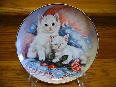 "Franklin Mint Heirloom Collector Plate by Brian Walsh ""Purrfectly Precious"" Cats"