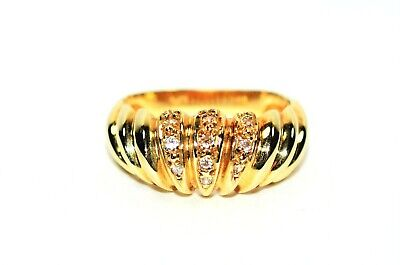 Intricate .08tcw Diamond 14kt Yellow Gold Ring