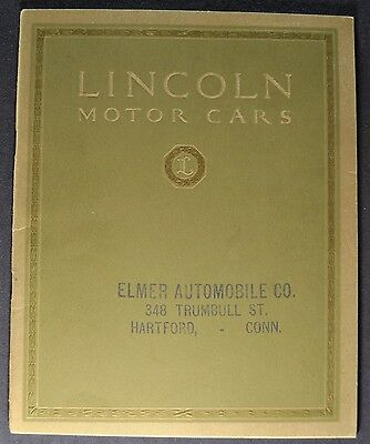 1923 Lincoln Catalog Sales Brochure Excellent Original 23