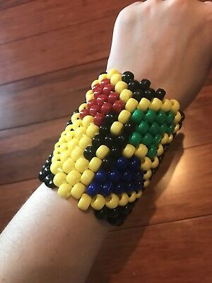 Harry Potter Hogwarts Crest Kandi Cuff for EDM Raves and Festivals
