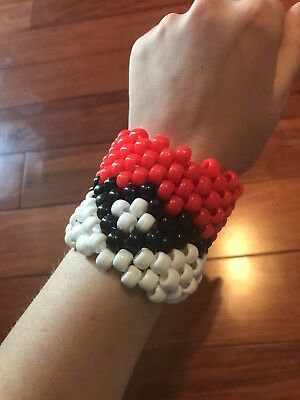 Pokémon Pokeball Kandi Cuff for EDM Raves and Festivals