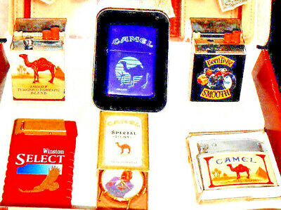 Vintage Collectable Camel Watchpiece w/ Camel Zippo/Cigarette Lighters + MORE