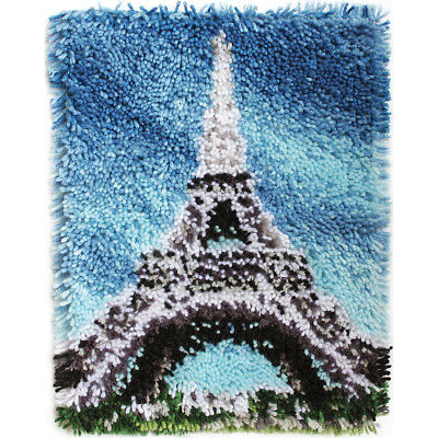"Wonderart Latch Hook Kit 15""X20"" Eiffel Tower 426240C"