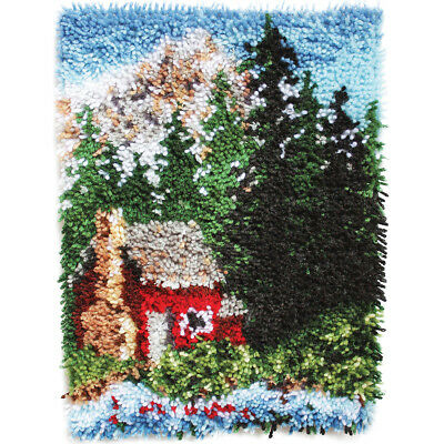 "Wonderart Latch Hook Kit 15""X20"" Cozy Cabin 426241C"