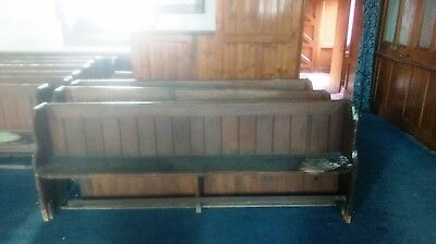 Vintage Pine Church Pew Bench