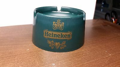 Heineken Beer Pub Ashtray / Green Plastic / Made In Italy / Came from Rotterdam