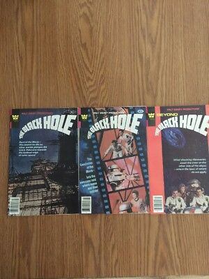 Walt Disney Productions The Black Hole Comic Books Whitman  1-3 High