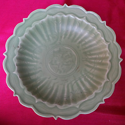 Antique Longquan Celadon Carved 'Lotus' Dish, Yuan-Ming Dynasty Sotheby's Class