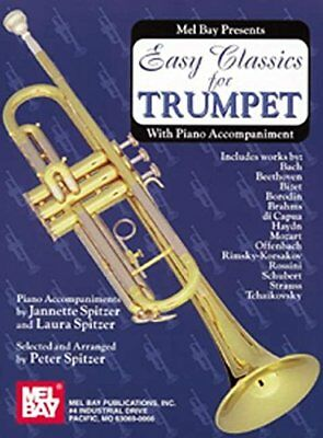 Easy Classics For Trumpet - With Piano Accompaniment (Divers) | Mel Bay