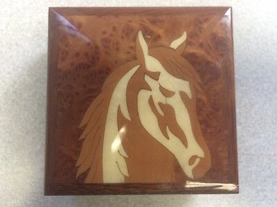 Wooden Horse Head Jewelry Box