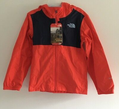 NEW! THE NORTH FACE DryVent Rain Jacket •FIERY RED/NAVY• Boys XS/6