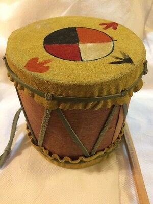 Medicine Wheel/Native American Drum Painted Hand Crafted