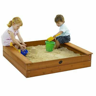 NEW Plum Wooden Square Sand Pit Square Cover Sustainable Timber Outdoor Play Toy