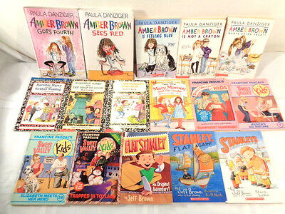 Lot of 117 2nd 3rd Chapter Books  Amber Brown, Horrible Harry, Stanley many more