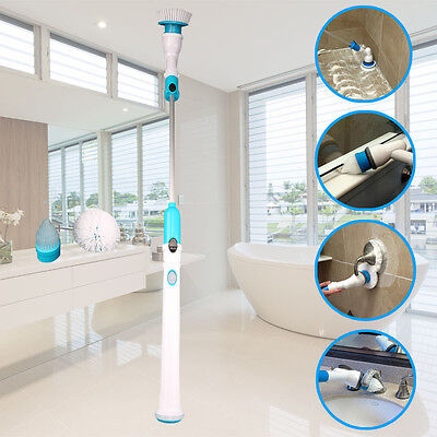 Rechargeable Tornado Turbo Brush High-Power Cordless Handheld Cleaning Scrub