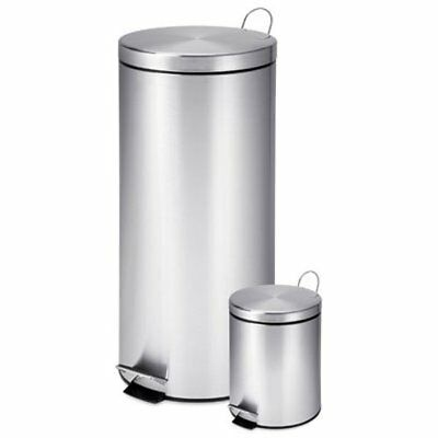 Honey-Can-Do TRS-01886 30-Liter and 3-Liter Stainless Steel Garbage Can Combo