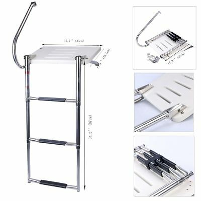 Boat Out-board Outboard Swim High Strength Polyethylene Platform  3-steps Ladder