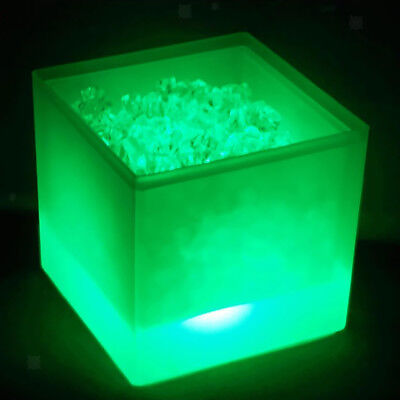 3.5L Green Ice Cooler LED Bucket Drinks Box Beer Wine Cooler Modern Decor