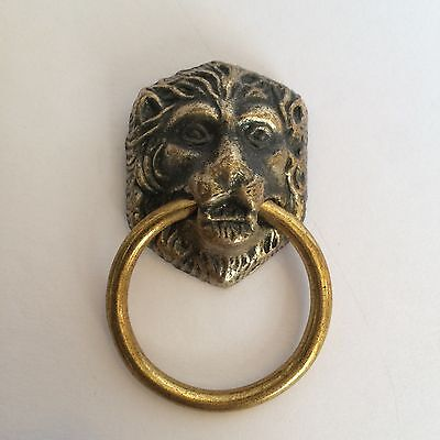 vintage lion head window shade pulls