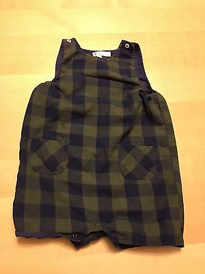 Knot Brand Checked Romper, Blue And Green, 9-12 Months, Adorable!