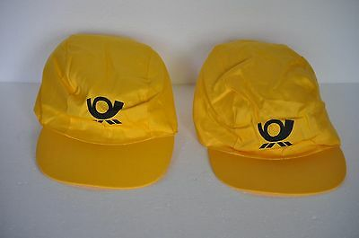 """Deutsche Post"" (German Postal Service) Hats - 2 Yellow Hats"