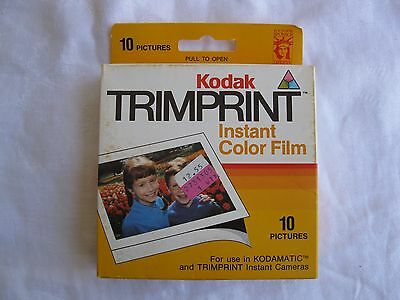 Sealed Kodak Instant Color Film (Trimprint) 10 pictures (HS144-10) Expired 10/86