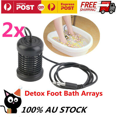Detox Foot Bath Arrays Round Stainless Steel Array Aqua Spa Ionic Cleanse Ion