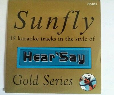Sunfly Gold series 1 CDG DISC Hear Say Tracks for Karaoke Machine
