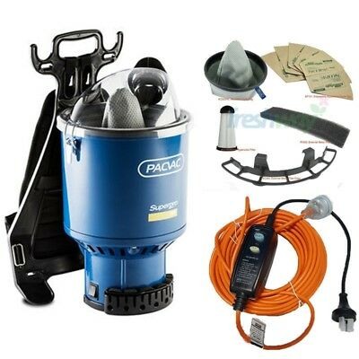Pacvac SUPERPRO 700 Dry Backpack Commercial Vac Cleaner + Service Kit