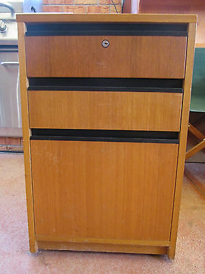 Timber  Lockable Filing cabinet No 2