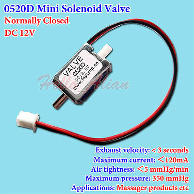 DC 12V Electric Solenoid Valve N/C Normally Closed for Gas Air Valve/Massager