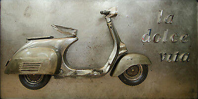 vespa sculpture wall art