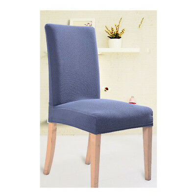 Gray Seat Covers Kitchen Bar Dining Thicken Chair Cover Hotel Wedding Decor