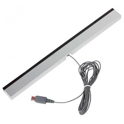 USB Wired Infrared Ray LED Sensor Bar with Stand for Nintendo Wii U PC Black
